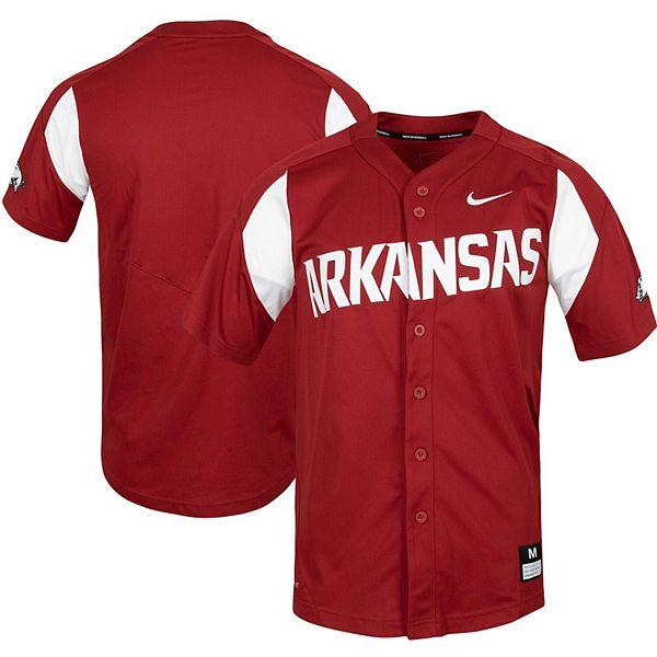 Men's Nike Cardinal Arkansas Razorbacks Vapor Untouchable Elite Full-Button Replica Baseball Jersey