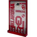 Oklahoma Sooners Wood Bottle Opener Sign Game