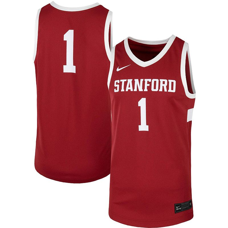 Men's Nike #1 Cardinal Stanford Cardinal Team Replica Basketball Jersey, Size: Small, Red