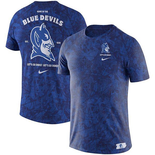 Men S Nike Royal Duke Blue Devils Basketball Statement Tri Blend T Shirt