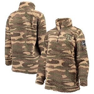 Women's Camo Tennessee Volunteers OHT Military Appreciation Sherpa Quarter-Zip Pullover Jacket