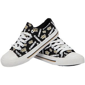 Women's UCF Knights Low Top Repeat Print Canvas Shoes