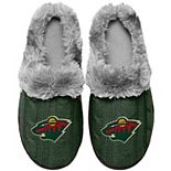 Women's Minnesota Wild Cable Knit Slide Slippers