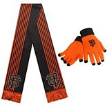 Women's Orange San Francisco Giants Gloves & Scarf Set