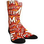 Women's Rock Em Socks Maryland Terrapins Logo Sketch Crew Socks