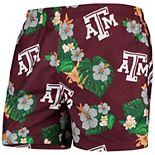 Men's Maroon Texas A&M Aggies Floral Swim Trunks