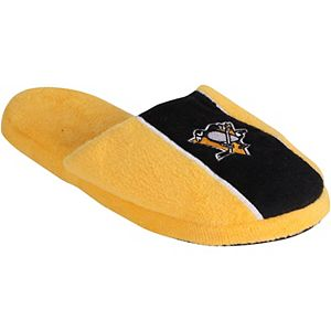 Youth Pittsburgh Penguins Big Logo Stripe Slippers