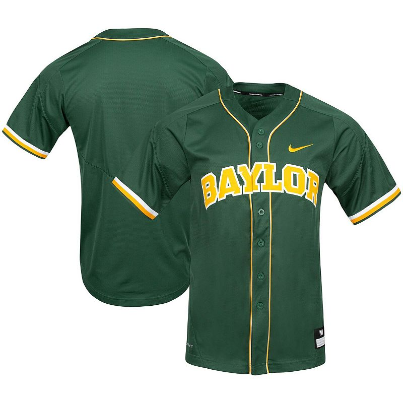 Men's Nike Green Baylor Bears Vapor Untouchable Elite Replica Full-Button Baseball Jersey, Size: 3XL