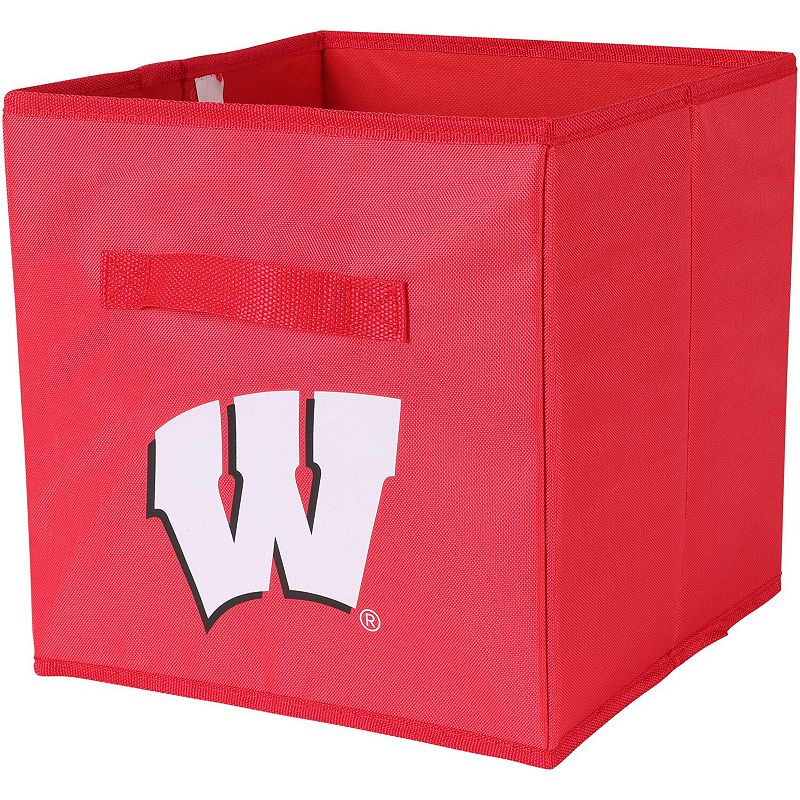 Wisconsin Badgers Three-Pack Storage Bin Set, Red