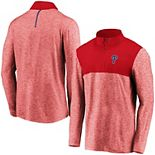 Men's Fanatics Branded Red Philadelphia Phillies Iconic Marble Clutch Half-Zip Jacket