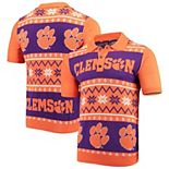 Men's Orange Clemson Tigers College Ugly Knit Polo