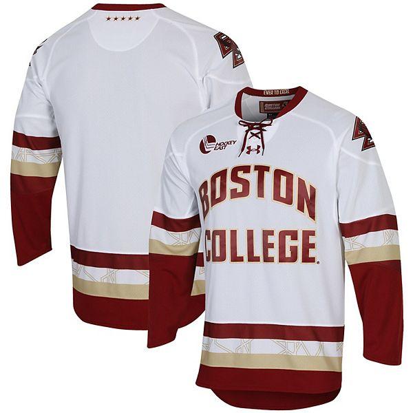 Men's Under Armour White Boston College Eagles Replica Performance College Hockey Jersey