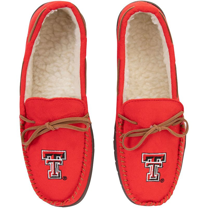 Men's Texas Tech Red Raiders Big Logo Moccasin Slippers, Size: XL