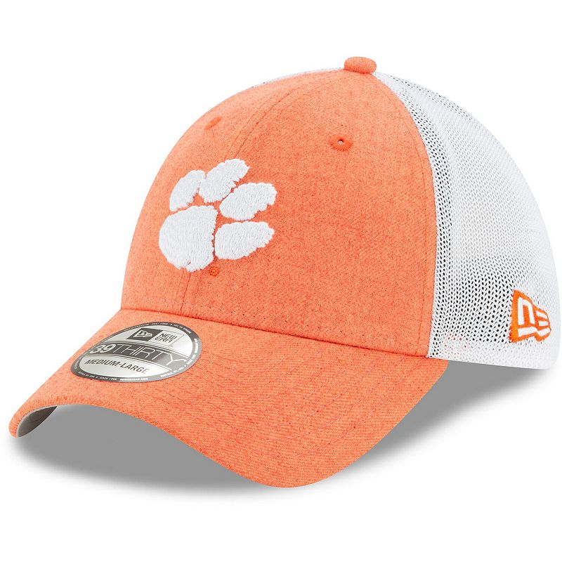 Men's New Era Orange Clemson Tigers Logo Turn 39THIRTY Flex Hat, Size: Medium/Large