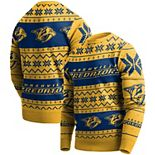Men's Gold Nashville Predators Ugly Pullover Sweater