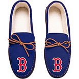 Men's Boston Red Sox Big Logo Moccasin Slippers