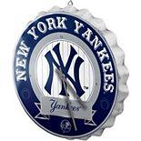 New York Yankees Bottle Cap Wall Clock