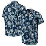 Men's Navy New York Yankees Floral Button-Up Shirt
