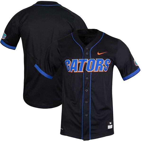Men's Nike Black Florida Gators Vapor Untouchable Elite Replica Full-Button Baseball Jersey