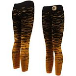 Women's Black Boston Bruins Static Rain Team Leggings