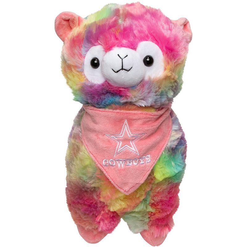 Dallas Cowboys Rainbow Bandana Llama Plush Toy