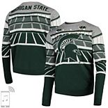 Men's Green Michigan State Spartans Bluetooth Light Up Sweater