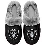 Women's Las Vegas Raiders Cable Knit Slide Slippers