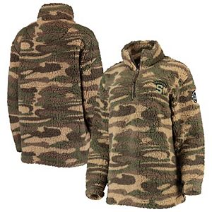 Women's Camo Syracuse Orange OHT Military Appreciation Sherpa Quarter-Zip Pullover Jacket