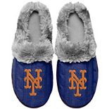 Women's New York Mets Cable Knit Slide Slippers