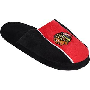 Youth Chicago Blackhawks Big Logo Stripe Slippers
