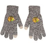 Men's Gray Chicago Blackhawks Knit Gloves