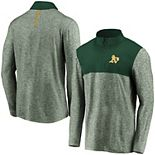Men's Fanatics Branded Green Oakland Athletics Iconic Marble Clutch Half-Zip Jacket