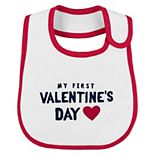 Baby Carter's My First Valentine's Day Teething Bib