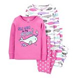 Toddler Girl Carter's 4-Piece Narwhal Pajama Set
