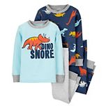 Toddler Boy Carter's 4-Piece Dino-Snore Pajama Set