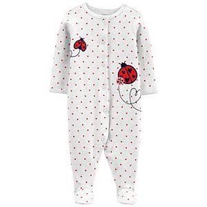 Baby Girl Carter's Ladybug Snap-Up Sleep & Play