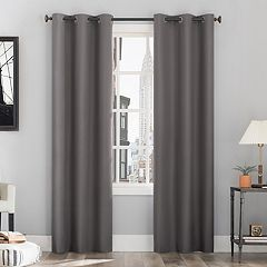 63 Inches Grey Curtains D