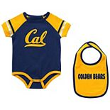 Newborn & Infant Colosseum Navy Cal Bears Warner Bib & Bodysuit Set
