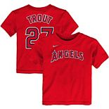 Toddler Nike Mike Trout Red Los Angeles Angels Player Name & Number T-Shirt