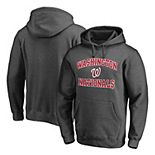 Men's Fanatics Branded Charcoal Washington Nationals Heart & Soul Pullover Hoodie