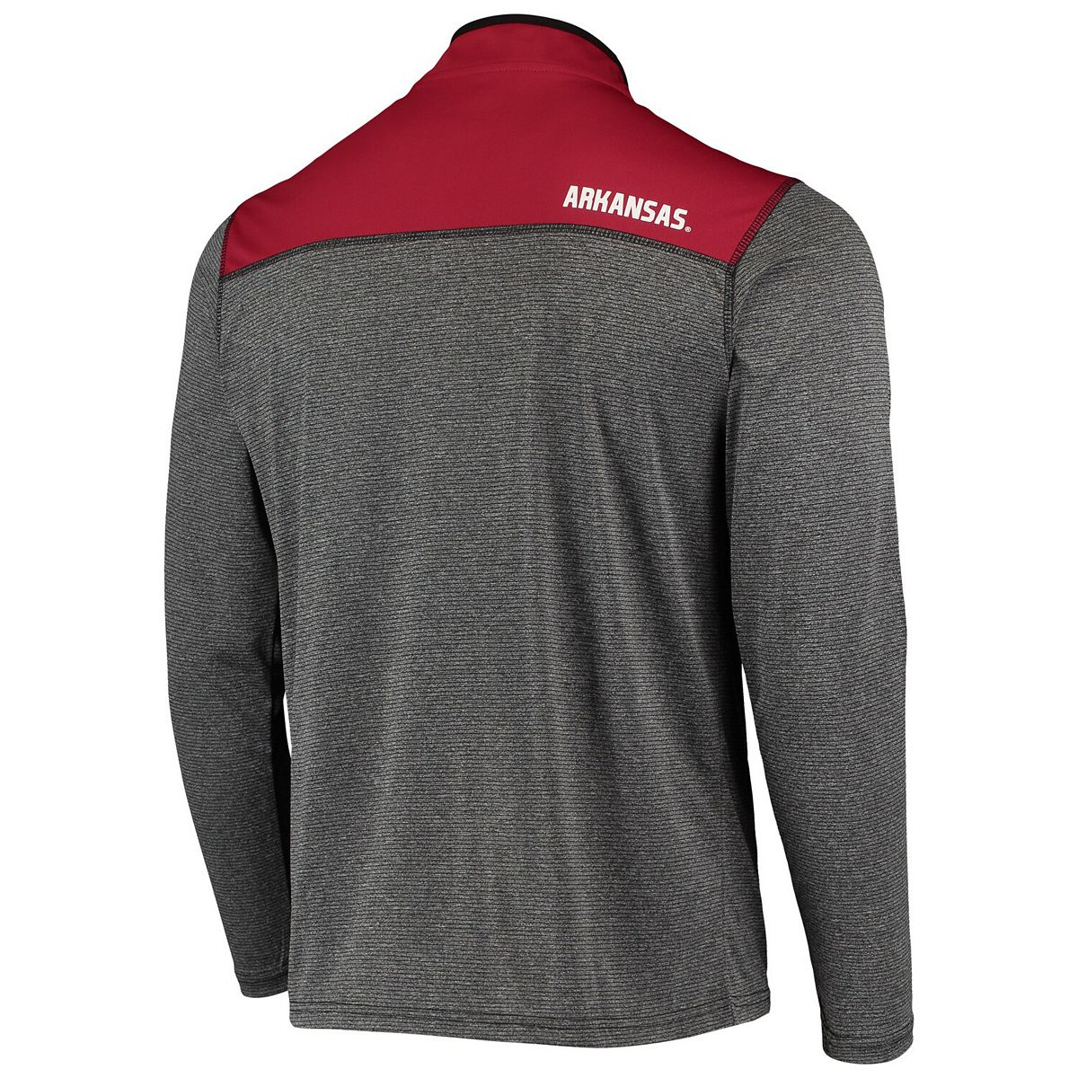 Men's Colosseum Black Arkansas Razorbacks Rangers Quarter-Zip Pullover Wind Shirt cjxYS