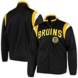 Men's G-III Sports by Carl Banks Black Boston Bruins Post Up Full-Zip Track Jacket
