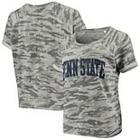 Women's Pressbox Camo Penn State Nittany Lions Splash French Terry T-Shirt