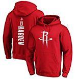 Men's Fanatics Branded James Harden Red Houston Rockets Team Playmaker Name & Number Pullover Hoodie