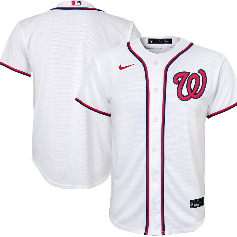 Youth Nike White Washington Nationals Home 2020 Replica Team Jersey, Boy's, Size: Youth XL