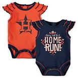Newborn & Infant Orange/Navy Houston Astros Shining All-Star 2-Pack Bodysuit Set