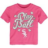 Toddler Pink Chicago White Sox Ball Girl T-Shirt