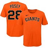 Youth Nike Buster Posey Orange San Francisco Giants Player Name & Number T-Shirt