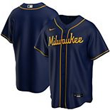 Men's Nike Navy Milwaukee Brewers Alternate Replica Team Jersey