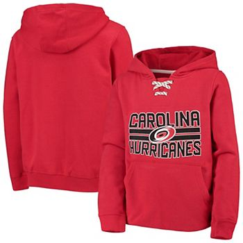 Youth Carolina Hurricanes Red Standard Lace-Up Pullover Hoodie